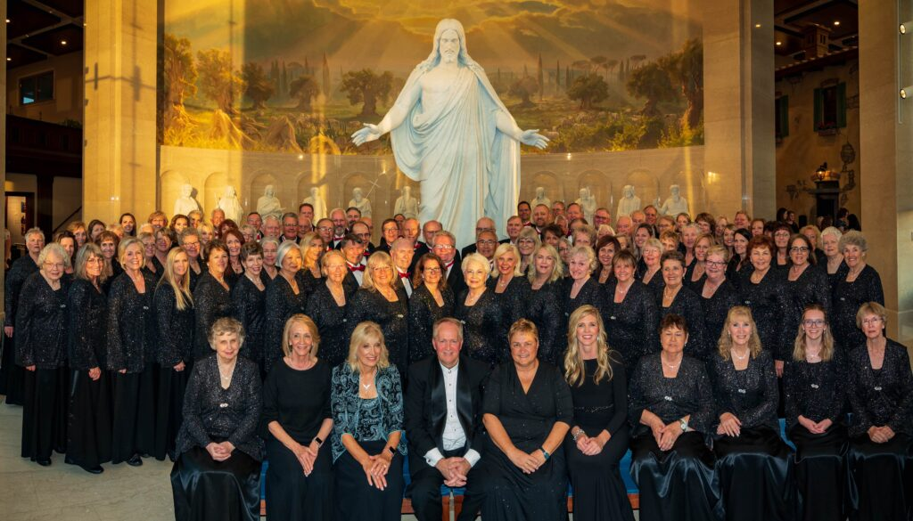 The Southern Utah Heritage Choir performed a The Church of Jesus Christ of Latter-day Saint's Rome, Italy Temple on October 10, 2019.